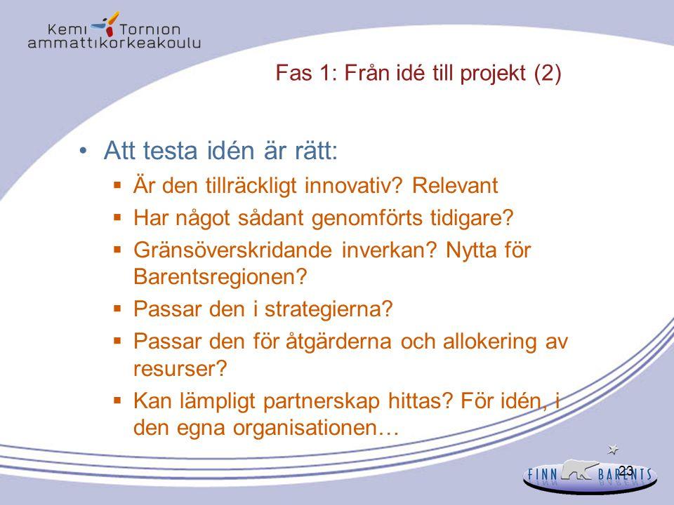 Fas 1: Från idé till projekt (2)