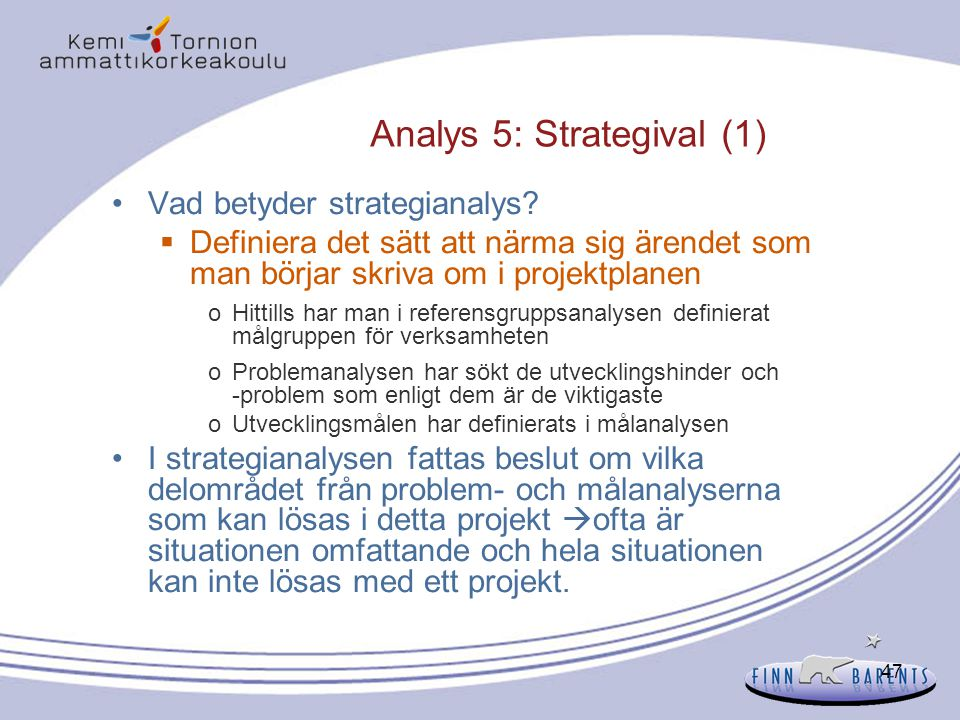 Analys 5: Strategival (1)
