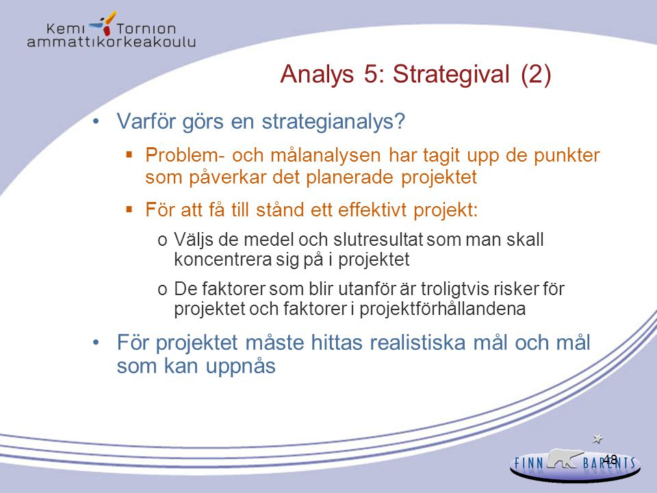 Analys 5: Strategival (2)