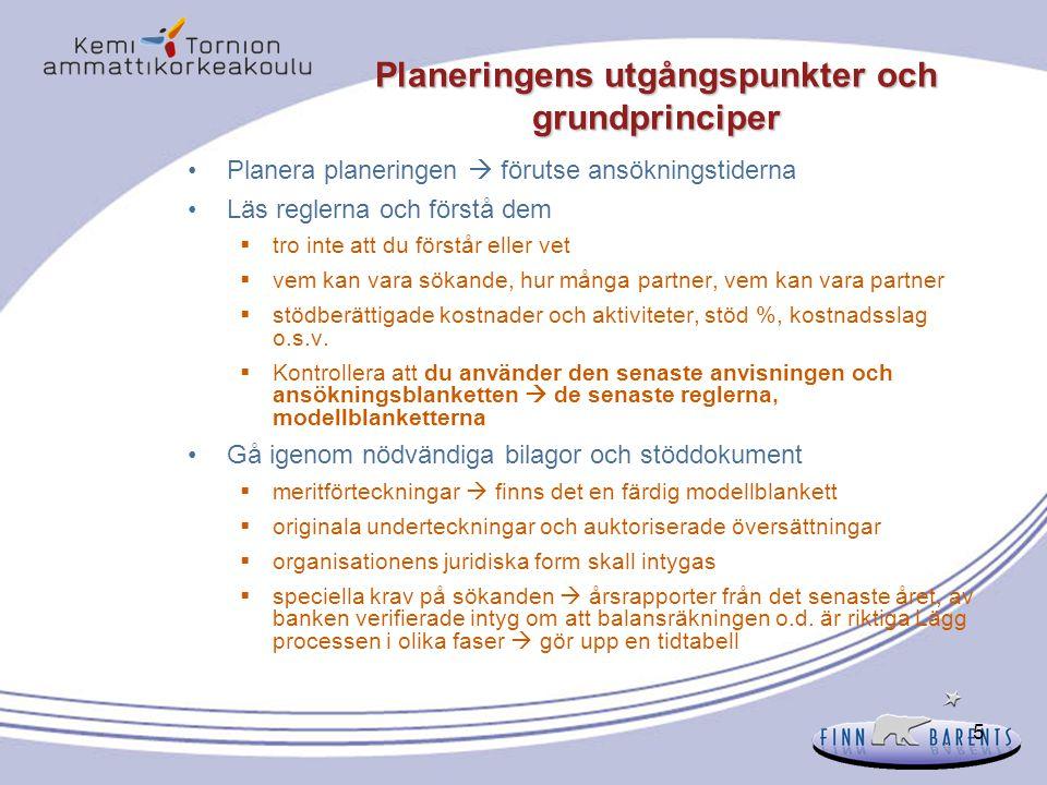 Planeringens utgångspunkter och grundprinciper