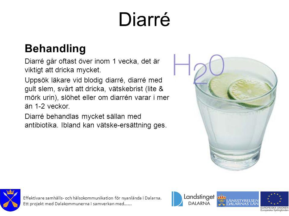 Diarré Behandling. Diarré går oftast över inom 1 vecka, det är viktigt att dricka mycket.