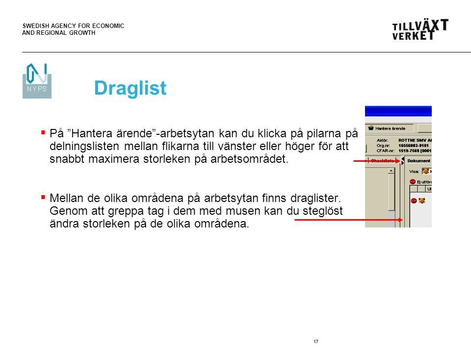 Draglist