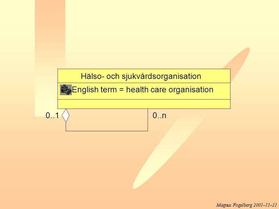 Hälso- och sjukvårdsorganisation