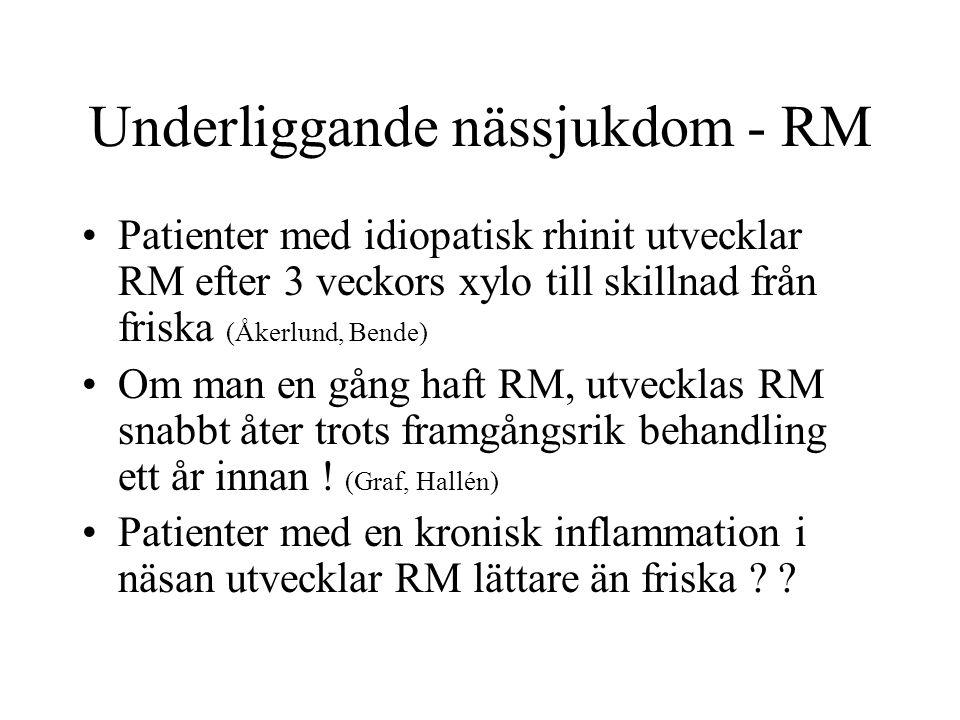 Underliggande nässjukdom - RM