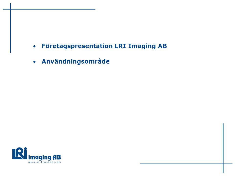 Företagspresentation LRI Imaging AB