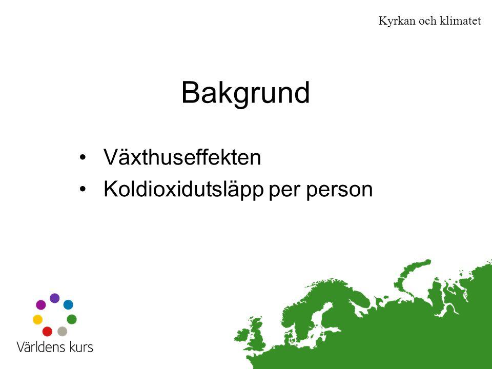 Växthuseffekten Koldioxidutsläpp per person
