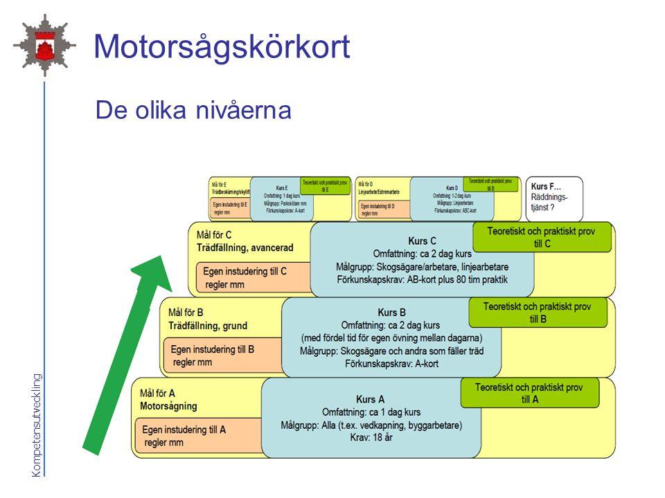 Motorsågskörkort De olika nivåerna 2017-04-07