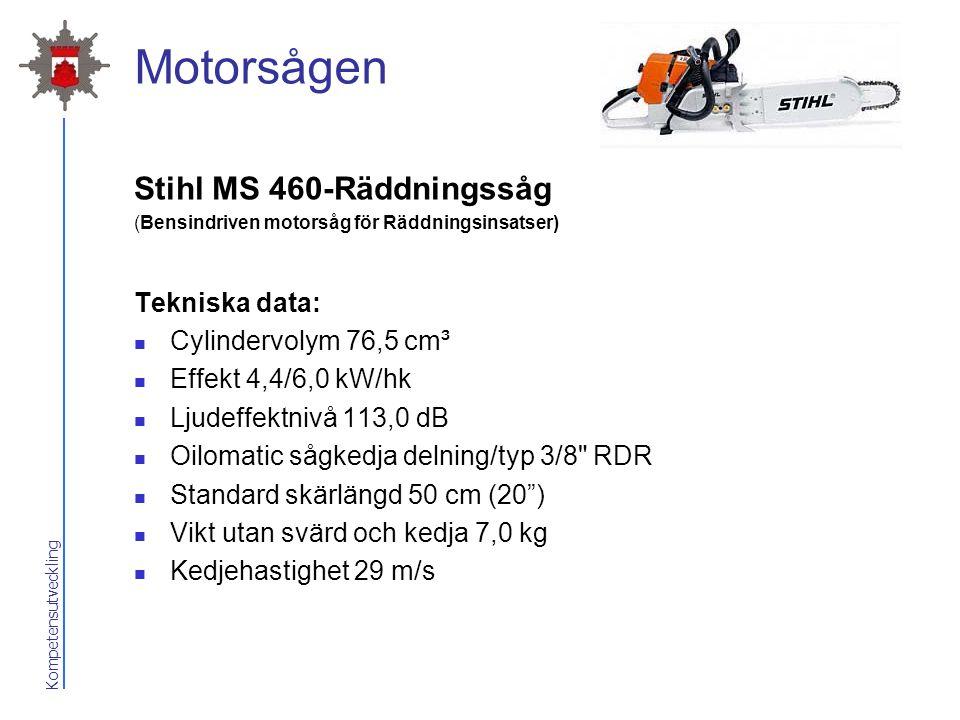 Motorsågen Stihl MS 460-Räddningssåg Tekniska data: