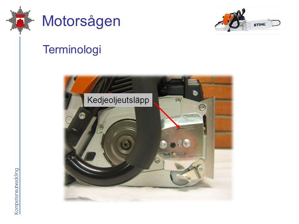 Motorsågen Terminologi Kedjeoljeutsläpp