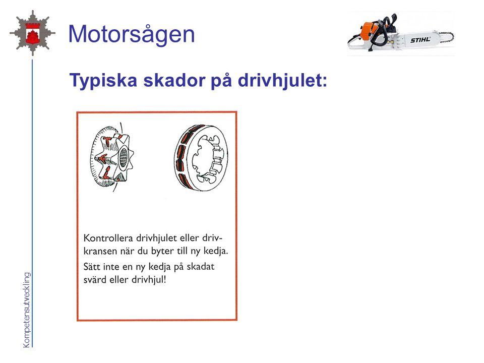 2017-04-07 Motorsågen Typiska skador på drivhjulet: