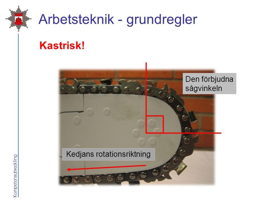 Arbetsteknik - grundregler
