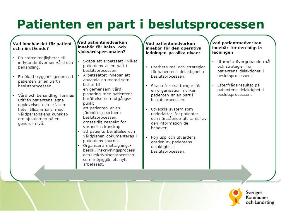 Patienten en part i beslutsprocessen