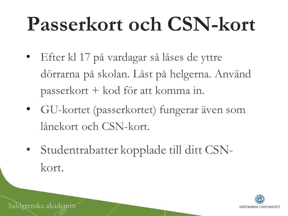 Passerkort och CSN-kort