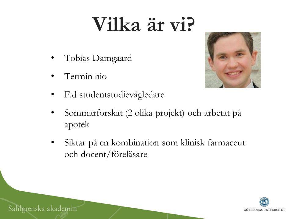 Vilka är vi Tobias Damgaard Termin nio F.d studentstudievägledare