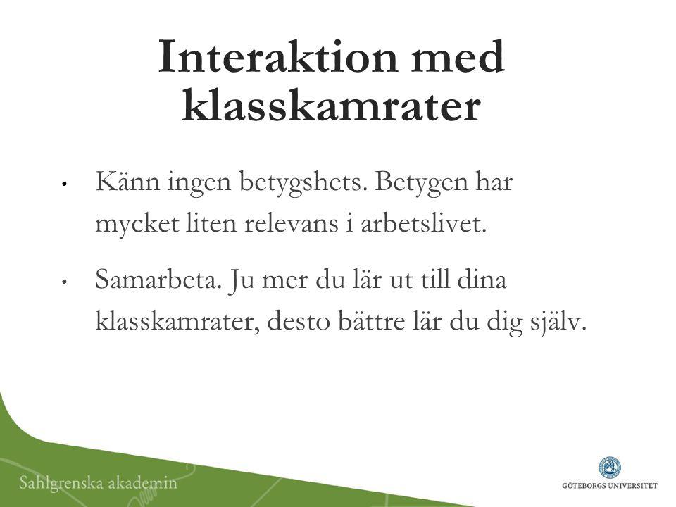Interaktion med klasskamrater