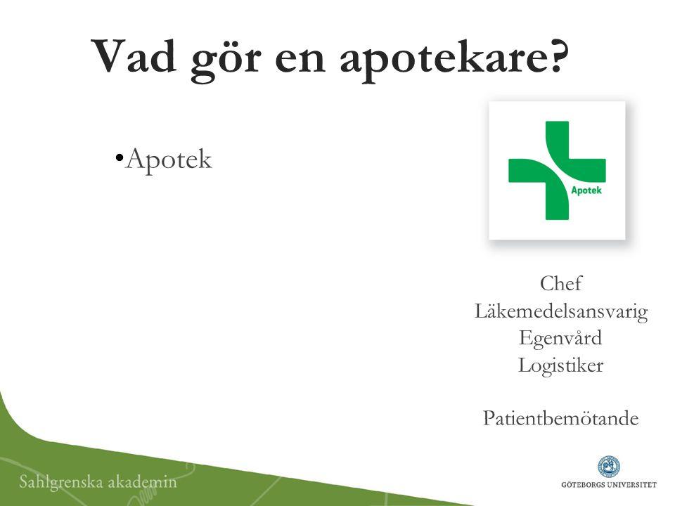 Vad gör en apotekare Apotek Chef Läkemedelsansvarig Egenvård