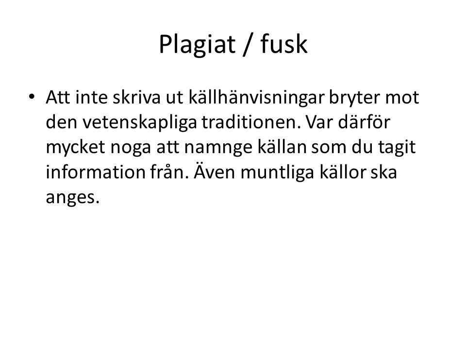 Plagiat / fusk
