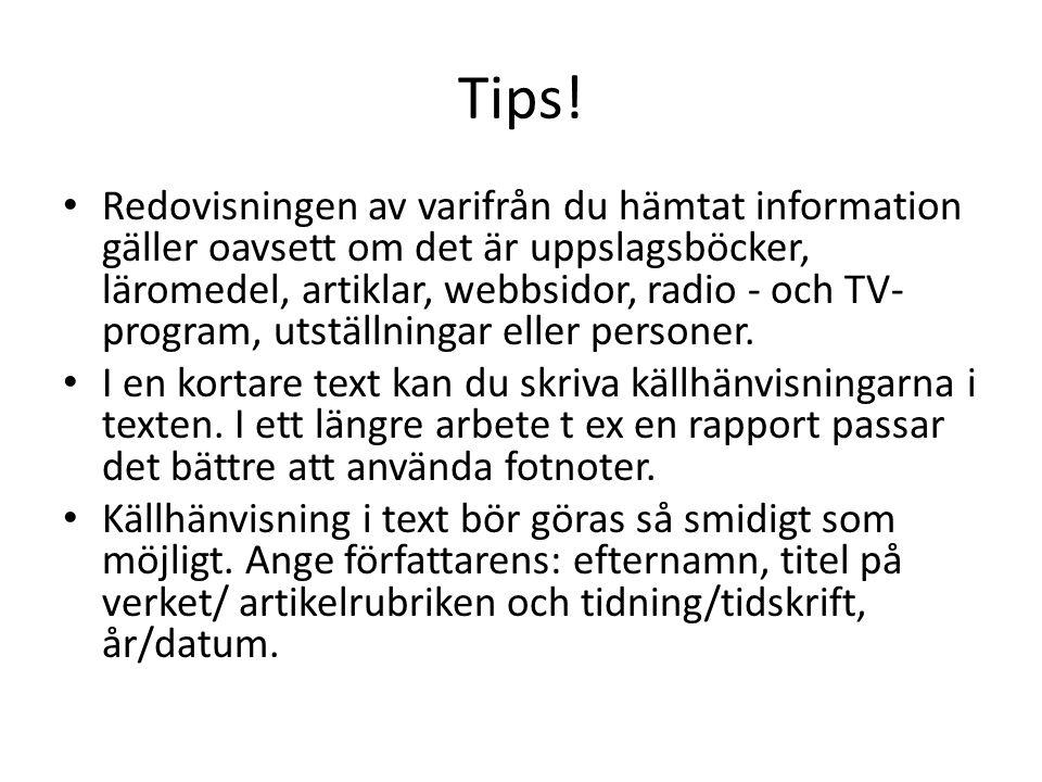 Tips!
