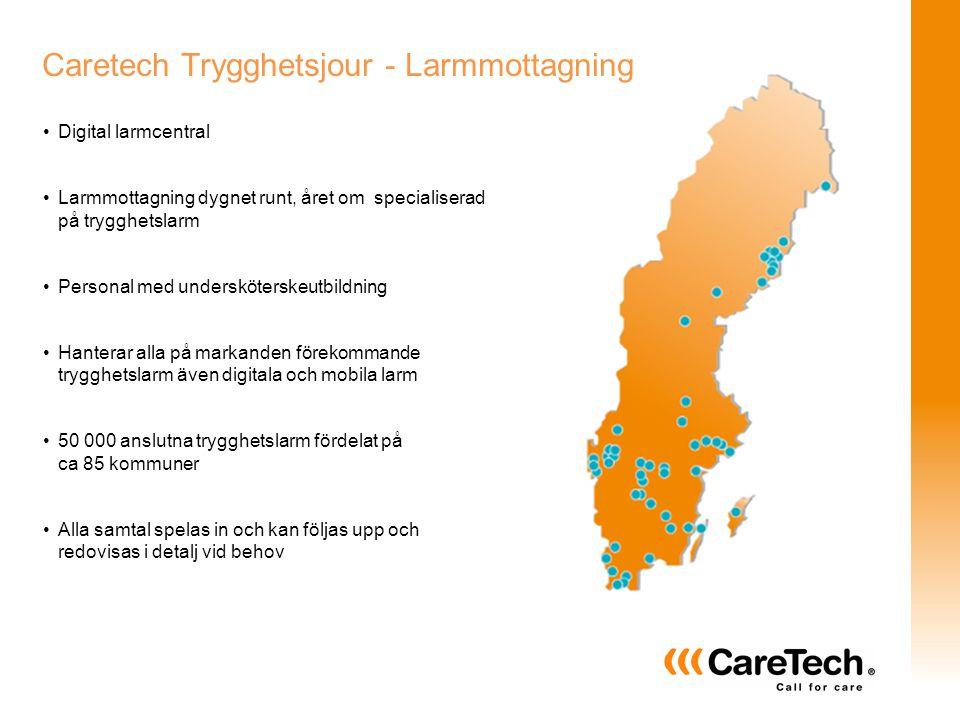 Caretech Trygghetsjour - Larmmottagning