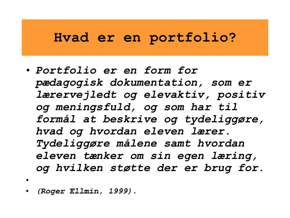 Hvad er en portfolio