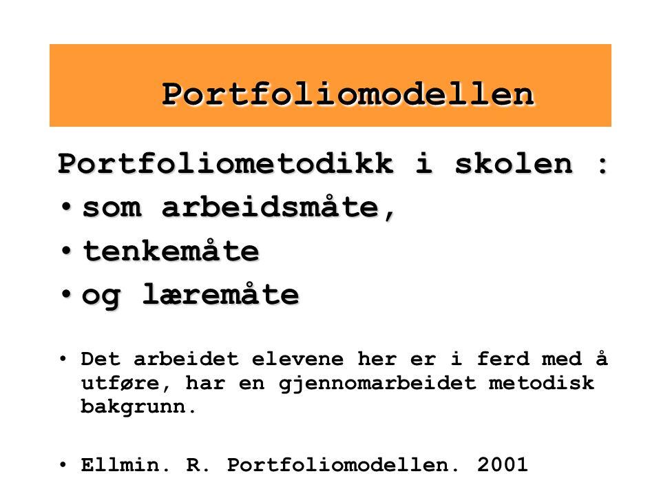 Portfoliomodellen Portfoliometodikk i skolen : som arbeidsmåte,
