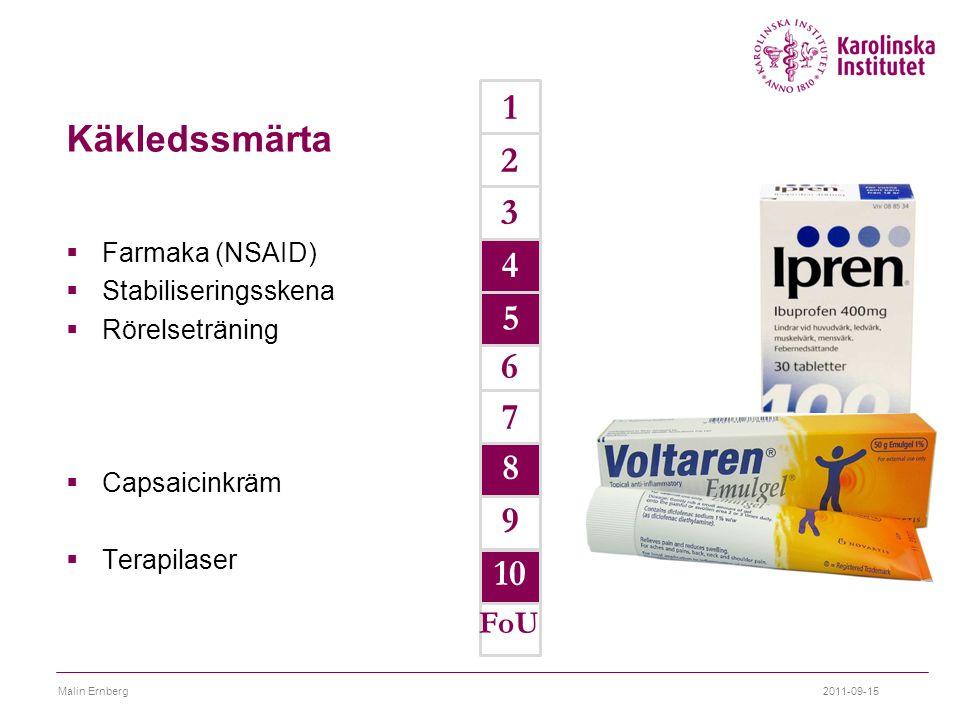 1 Käkledssmärta 2 3 4 4 5 5 6 7 8 9 10 FoU Farmaka (NSAID)