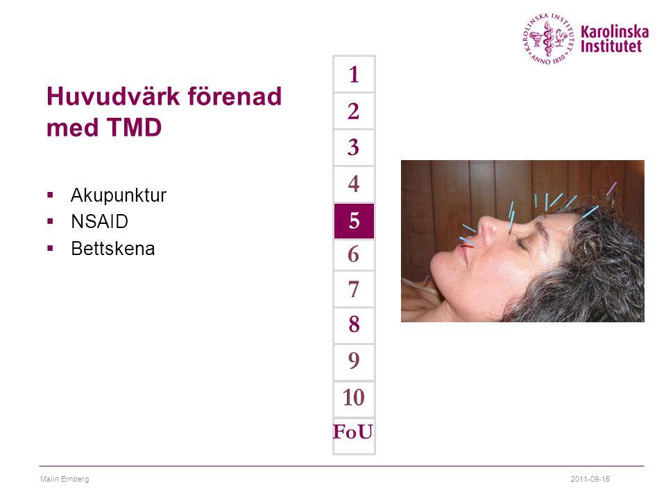 Huvudvärk förenad med TMD