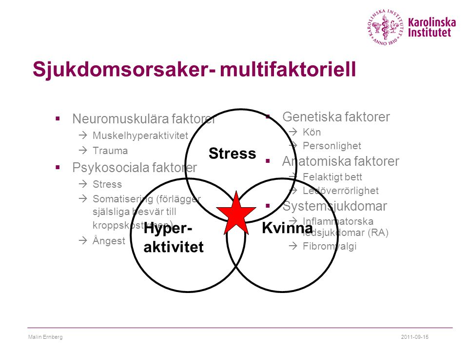 Sjukdomsorsaker- multifaktoriell