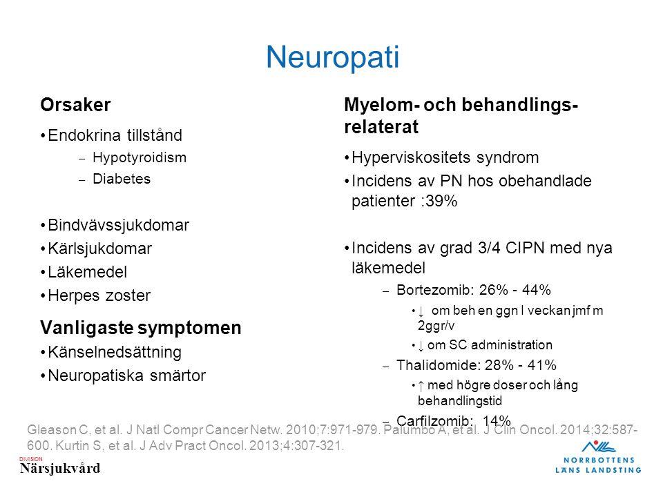 Neuropati Orsaker Vanligaste symptomen
