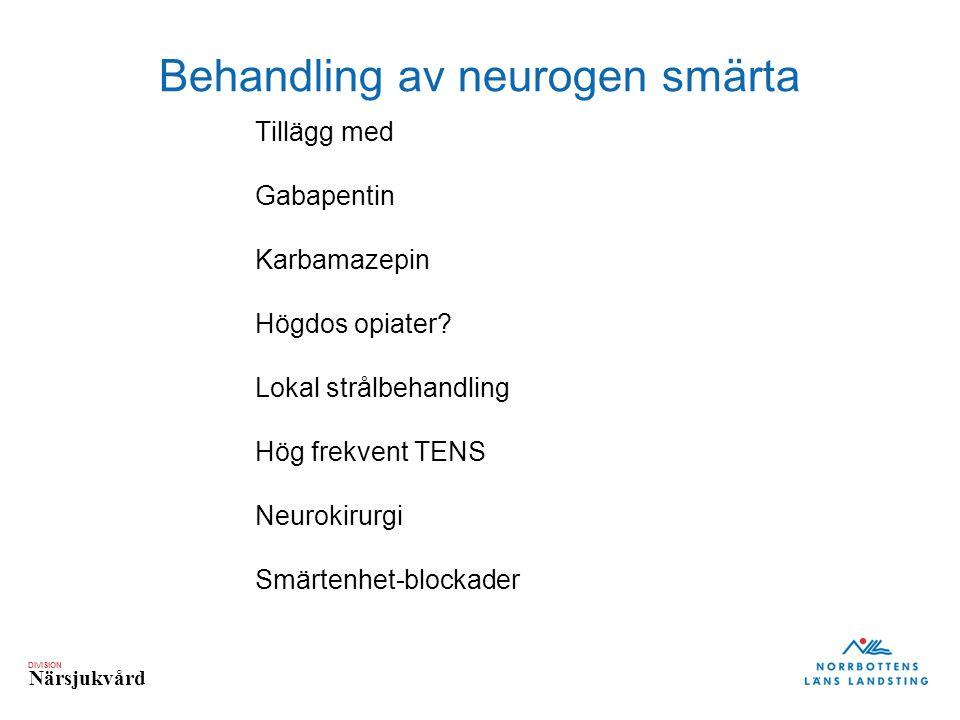 Behandling av neurogen smärta