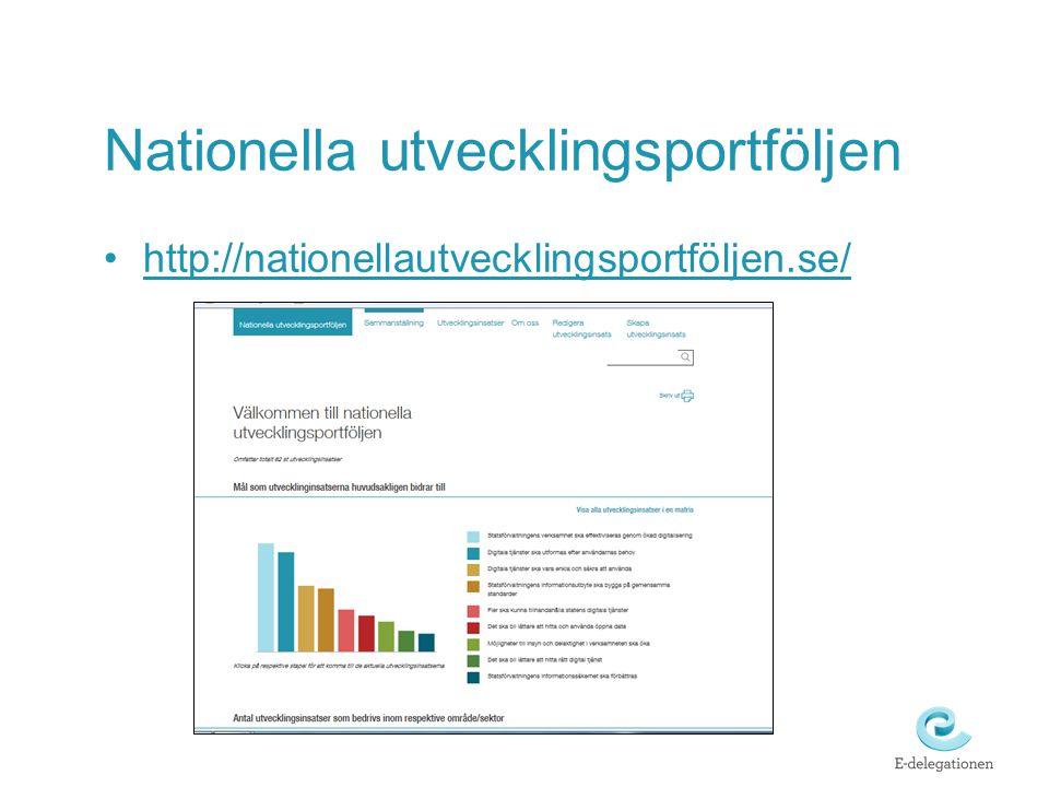 Nationella utvecklingsportföljen