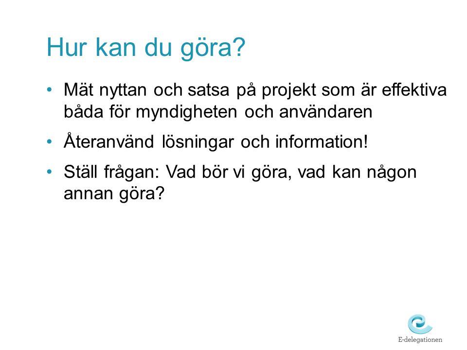 Hur kan du göra Mät nyttan och satsa på projekt som är effektiva båda för myndigheten och användaren.