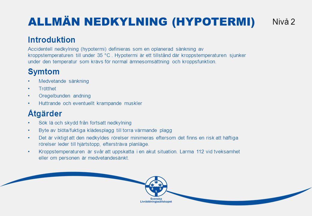Allmän nedkylning (hypotermi)