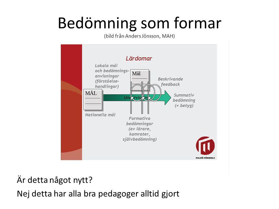 Bedömning som formar (bild från Anders Jönsson, MAH)