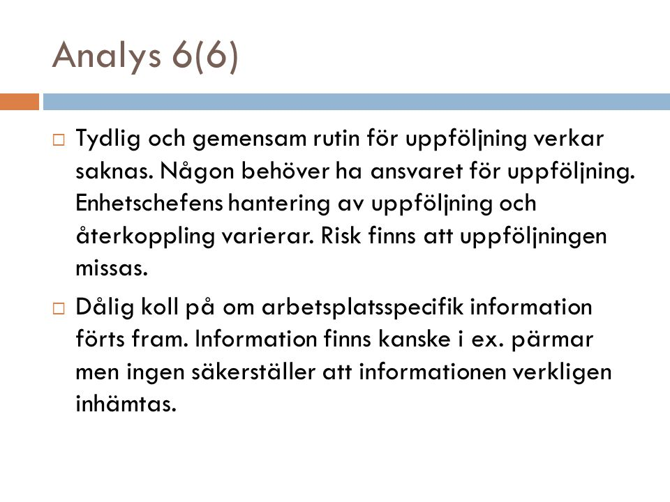 Analys 6(6)