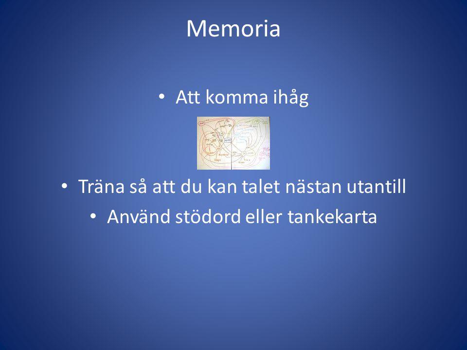 Memoria Att komma ihåg Träna så att du kan talet nästan utantill