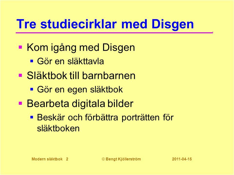 Tre studiecirklar med Disgen