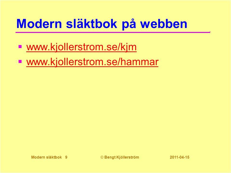 Modern släktbok på webben