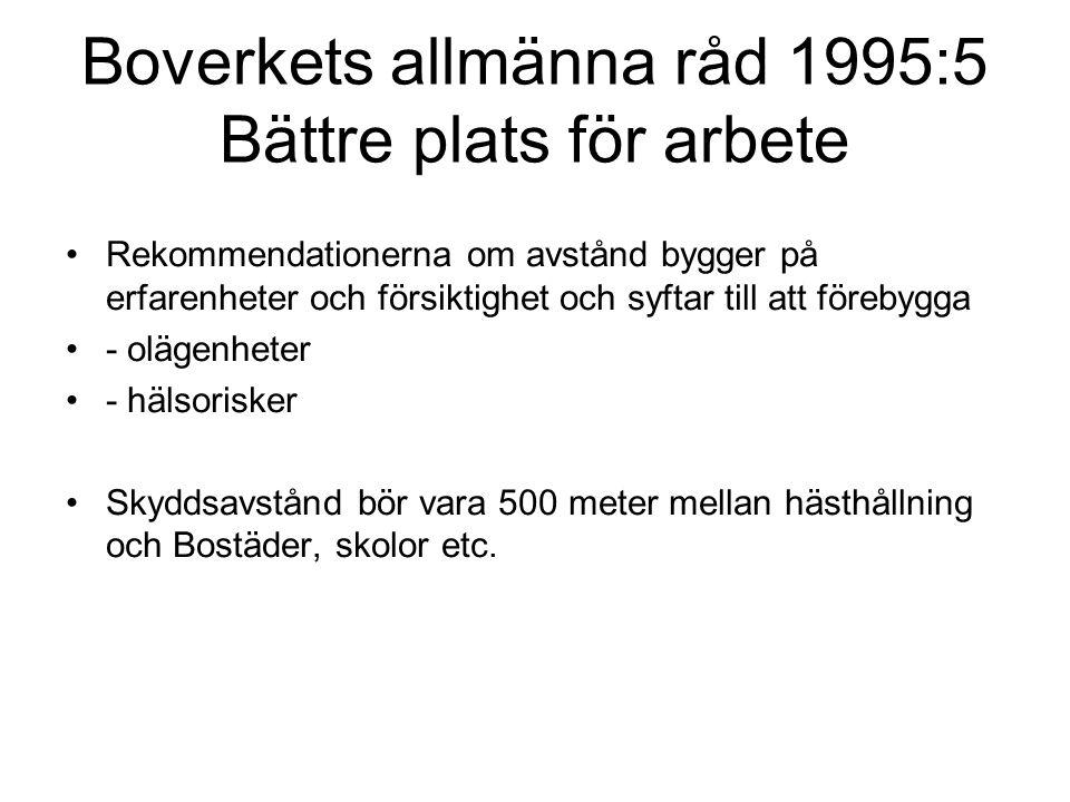Boverkets allmänna råd 1995:5 Bättre plats för arbete