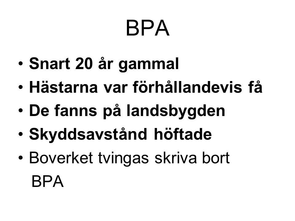 BPA Snart 20 år gammal Hästarna var förhållandevis få