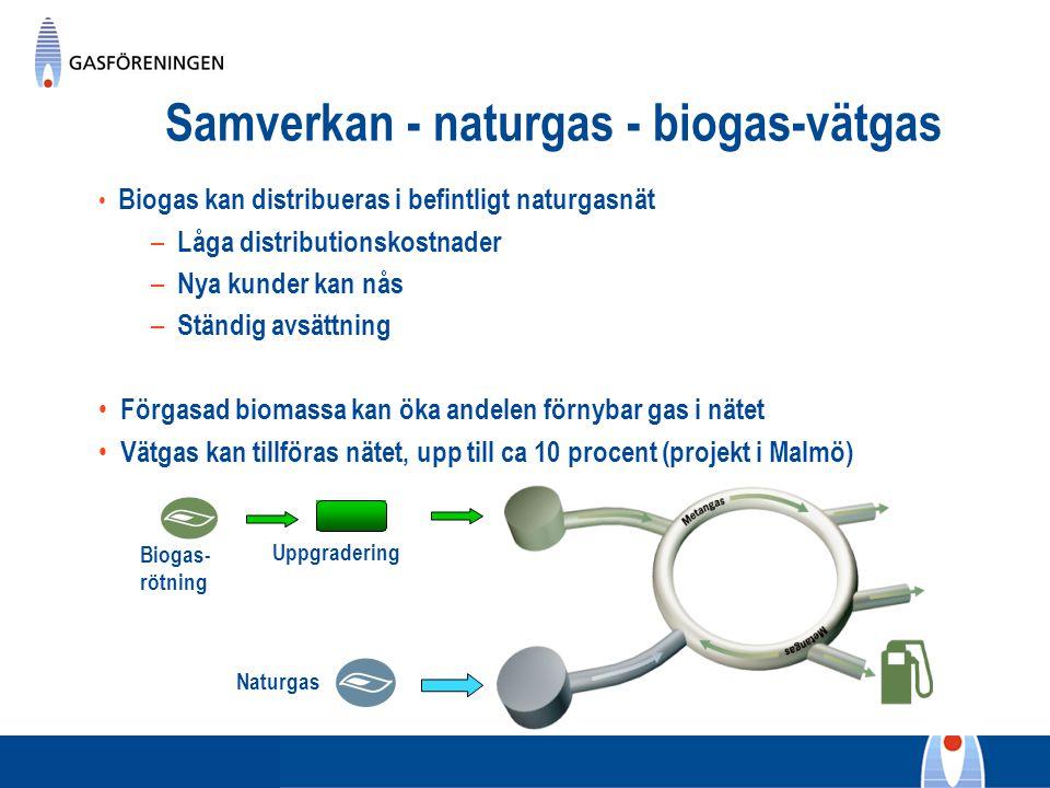 Samverkan - naturgas - biogas-vätgas