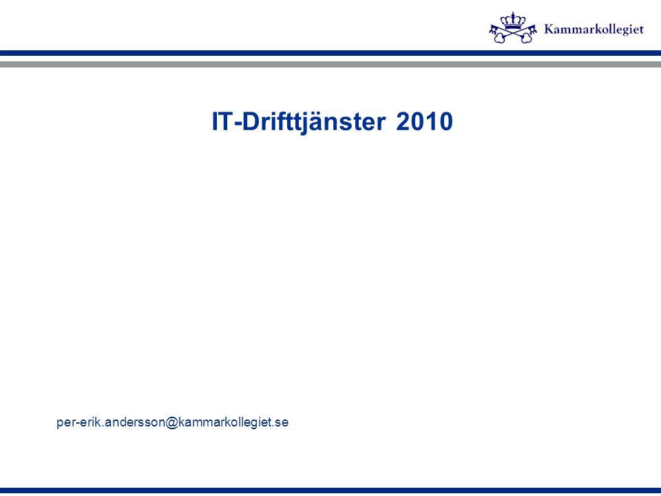 IT-Drifttjänster 2010 per-erik.andersson@kammarkollegiet.se