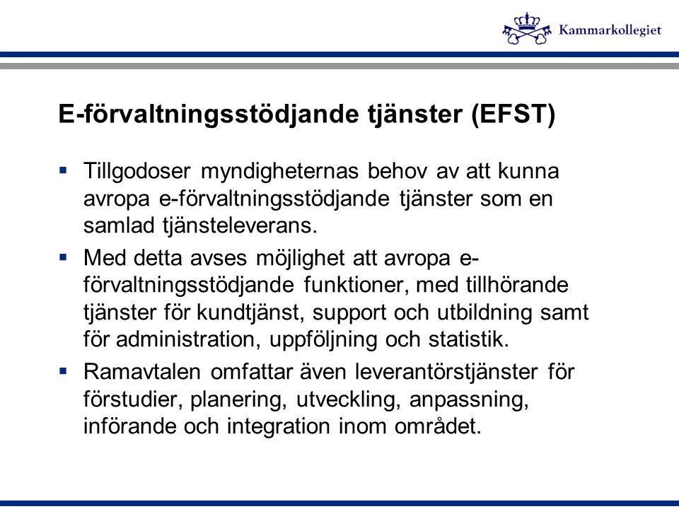 E-förvaltningsstödjande tjänster (EFST)