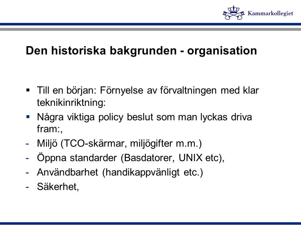 Den historiska bakgrunden - organisation