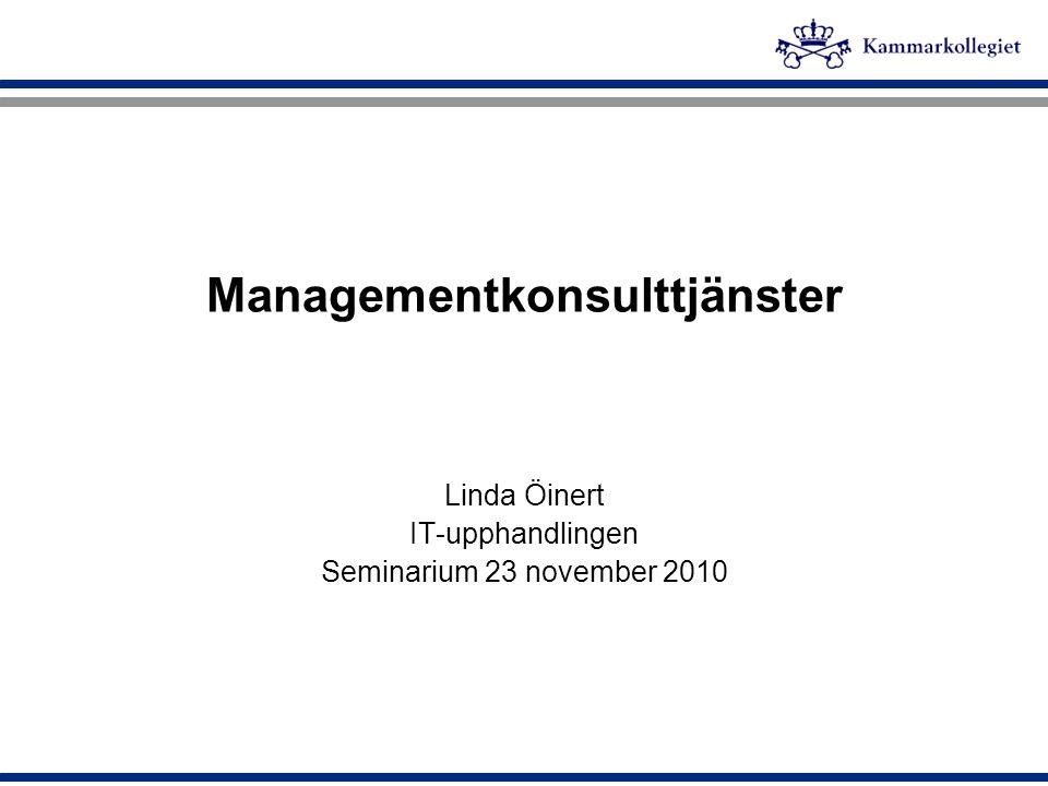 Managementkonsulttjänster