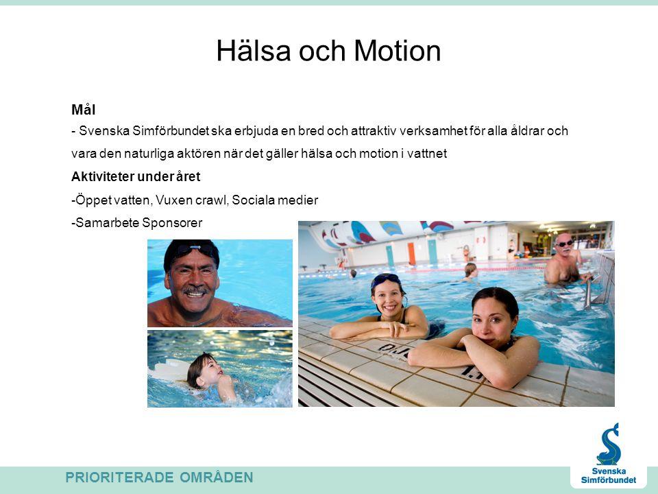 Hälsa och Motion Mål PRIORITERADE OMRÅDEN