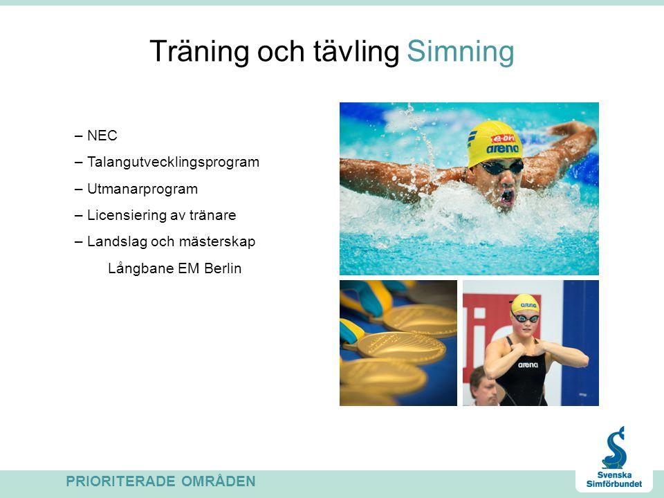 Träning och tävling Simning