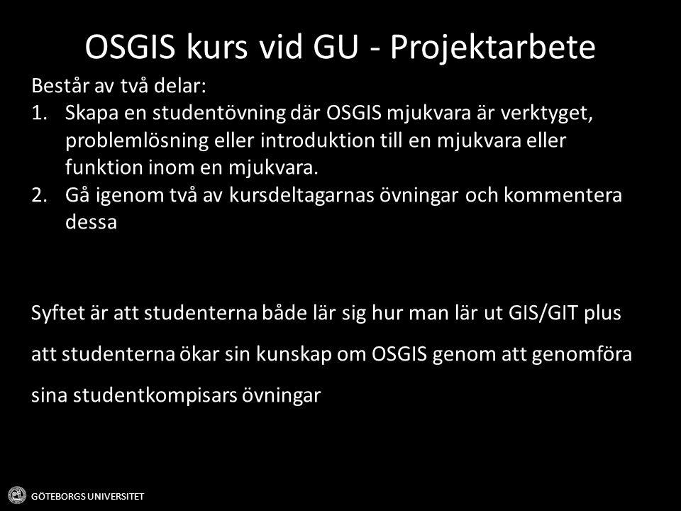 OSGIS kurs vid GU - Projektarbete