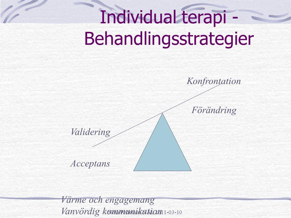 Individual terapi - Behandlingsstrategier