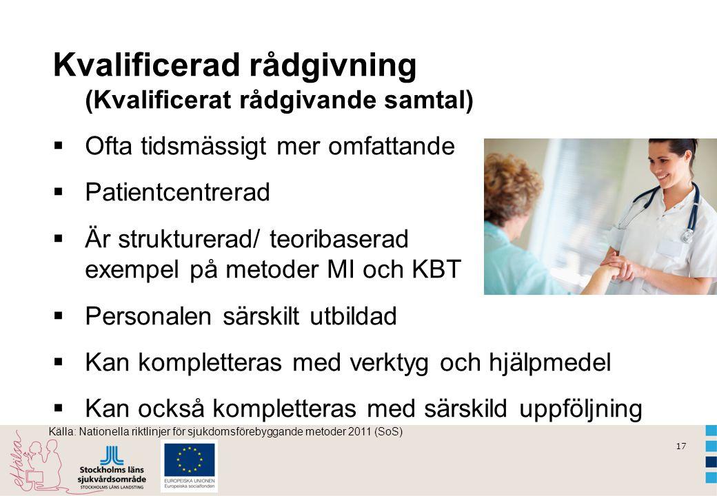 Kvalificerad rådgivning (Kvalificerat rådgivande samtal)